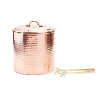 Old Dutch International Hammered Decor Ice Bucket with Liner and Tongs, 3-Quart, Copper by Old...