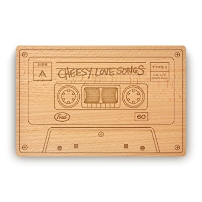Fred Cheesey love Songs Cheese/Cutting Board, 27cm x 18cm, Wood