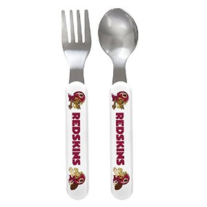 Baby Fanatic Fork and Spoon Set, Washington Redskins by Baby Fanatic