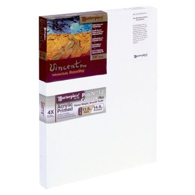 Masterpiece Vincent PRO 7/8 Deep, 8 x 12 Inch, Sierra 12oz Triple Primed Heavy Pro Cotton Canvas by...