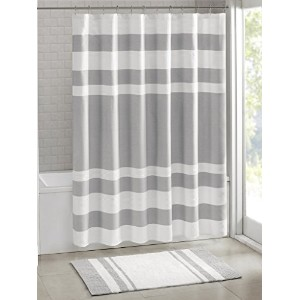 Madison Park MP70-1484 Spa Waffle Shower Curtain 72x72 Grey,72x72 by Madison Park