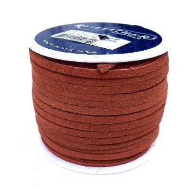 Lace Lacing Leather Suede Medium Brown 25 Yard Spool by Dangerous Threads