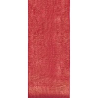Offray Lady Chiffon Sheer Craft Ribbon, 1-1/2-Inch Wide by 50-Yard Spool, Red by Offray