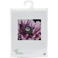 Thea Gouverneur 18 Count Poppy on Aida Counted Cross Stitch Kit, 6 x 5.5 by Thea Gouverneur