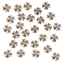 OrnateEightPetalPinwheelBeadCaps,1.8by10mm,AntiquedBrass by Beadaholique