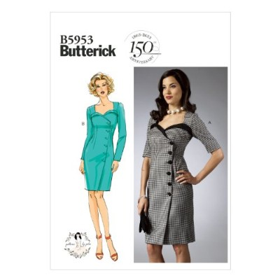 Butterick Patterns B5953 Misses' Dress Sewing Template, Size E5 (14-16-18-20-22) by BUTTERICK...