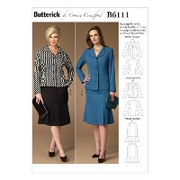 Butterick Patterns B6111 Misses'/Women's Jacket and Skirt, Size WMN by BUTTERICK PATTERNS