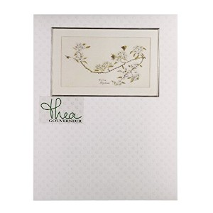 Thea Gouverneur 1047A Pear Blossom on 16 Count Aida, Counted Cross Stitch Kit, 11.4-Inch-by-20.5...