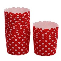 80CountホームキュートBaking Cups Cupcakes Cases Cupcakesカップ、ハートパターン
