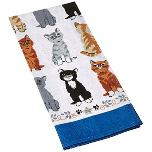 Kittens Arrived Linen Tea Towel by Ulster Weavers