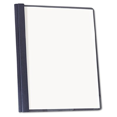 Clear Front Report Cover, Tang Fasteners, Letter Size, Dark Blue, 25/Box (並行輸入品)
