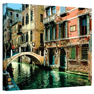 """ VENICE CANAL "" Wrappedキャンバスbyジョージ・Zucconi 18"" x 24"" 0zuc011a1824w"