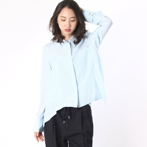 【SALE 65%OFF】デレクラム テン クロスビー DEREK LAM 10 CROSBY LAYERED L/S SHIRT? (oxford blue)