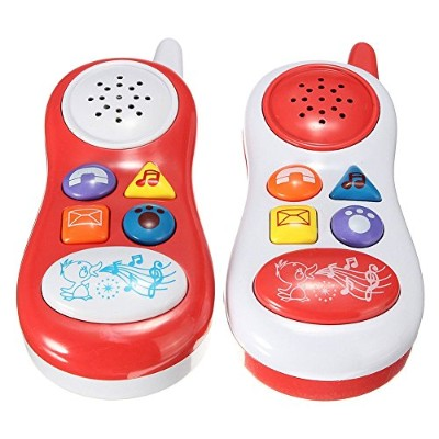LuxBene(TM)BS#S Baby Kids Learning Study Musical Sound Cell Phone Children Educational Toys Musical...