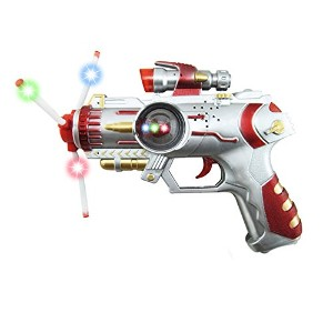 LuxBene(TM)BS#S 3 Color Led Light Music Gun Children's Flashing Sound Gun Toy Kids Gifts