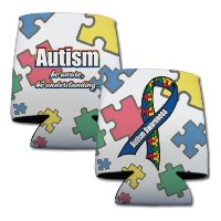 Autism Awareness Can Cooler Set - 6異なるdesigns-のセット6