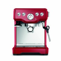 【並行輸入】Breville ブレビル BES840CBXL The Infuser Espresso Machine, Cranberry Red エスプレッソメーカー
