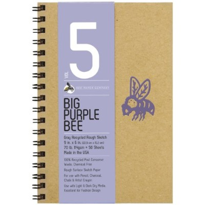 Bee Paper Company Big Purple Bee Drawing Pad, 9 by 6-Inch, Gray Bogus by Bee Paper Company