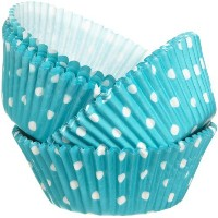 Wilton Standard Baking Cups Dots, Teal by Wilton