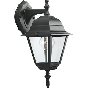 HomeStyle HS71006-31 One Light Small Wall Lantern-Down/ Die Cast in Black [並行輸入品]