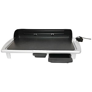 Elite EGR-2013SG Gourmet Electric Indoor Griddle, 20' by 10', White [並行輸入品]