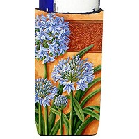 Caroline 's Treasures Agapanthus by Judith Yates Michelob Ultra Koozies forスリム缶、マルチカラー