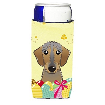 Caroline 's Treasures bb1915muk」Wirehaired Dachshund Easter Egg Hunt Michelob Ultra Koozies forスリム缶...