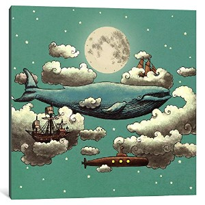 """iCanvasART 1Piece Ocean Meets Sky Square # 2キャンバスプリントbyテリーファン、12"""" x 12"""" / 1.5""""奥行"""