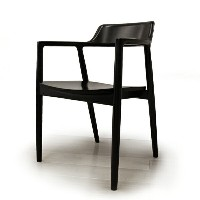 【最大2000円クーポン発行中】MARUNI COLLECTION HIROSHIMA ARM CHAIR(Mat Black)No.2955-81 EC-1(cc-bk)【マルニ木工...