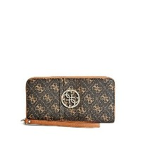 (ゲス 財布 レディース) GUESS Lena Quattro G Zip-Around Wristlet Wallet Clutch Bag