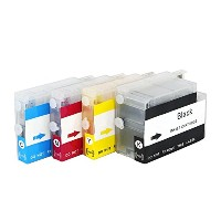 CISinks Refillable Cartridge セット for HP Printers - Officejet プロ 6100 6600 6700 Officejet 7110 7610...