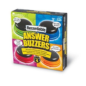 Recordable Answer Buzzers 教材 音の出るおもちゃ 録音可能 アンサーブザー(4個セット)