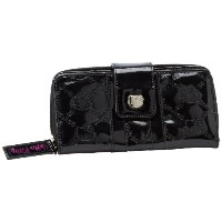 Hello Kitty Black Embossed Patent Wallet