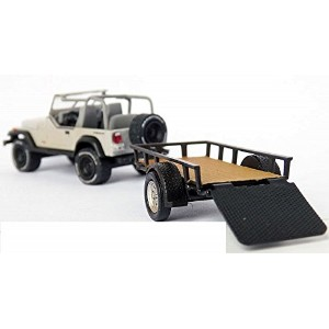 "GREENLIGHT 1:64SCALE HITCH&TOW SERIES8 ""MICHONNE'S JEEP WRANGLER YJ AND UTILITY TRAILER""(THE..."