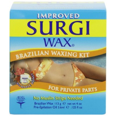 SURGI ブラジリアン ワックス キット ビキニライン 用 3箱セット [並行輸入品] Surgiwax Surgi-Wax Brazilian Waxing Kit For Private...