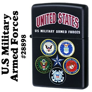 【ZIPPO】 ジッポーライター オイル ライター U.S Military Armed Forces 28898 Black Matte zippo