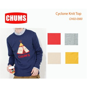 CHUMS チャムス CH02-0560 Cyclone Knit Top-サイクロンニットトップ  ※取り寄せ品