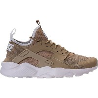 ナイキ メンズ スニーカー シューズ Men's Nike Air Huarache Run Ultra Casual Shoes Khaki/Pale Grey/White