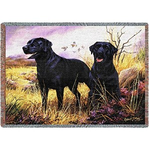 Pure Country 1137-T Black Lab Pet Blanket, Various Blended Colorways, 53 by 70-Inch by Pure Country