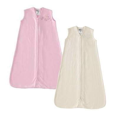 HALO Sleepsack 100% Cotton Wearable Blanket, Soft Pink & Cream, X-Large, by Halo