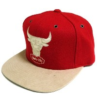 Mitchell & Ness Suede Strap Adjustable cap CHICAGO BULLS(RED)/ミッチェル&ネス シカゴブルズ