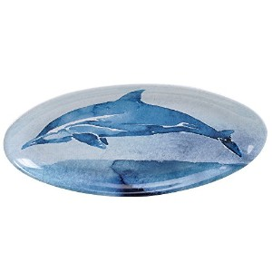 "Certified International by Lisa Audit Sea Life Oval Platter 19.25"" x 8.75"" 15338"
