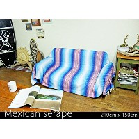 RUG&PIECE Mexican Serape made in mexcico ネイティブ メキシカン サラペ メキシコ製 210cm×150cm (rug-5540)