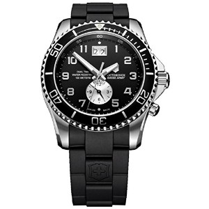 ビクトリノックス Victorinox Swiss Army Men's 241440 Maverick GS Dual Time Black Double Date Dial Watch 男性...