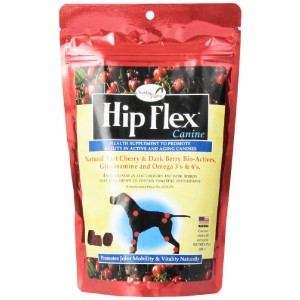 NaturVet Overby Farm HIP FLEX Joint Mobility Soft Chew Cherry Dog Treat 9.17 oz