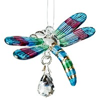 Woodstock Chimes Fantasy Glass Dragonfly Spring