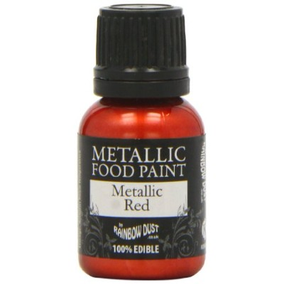 Rainbow Dust Metallic Paint Red