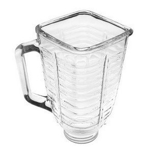 5 Cup Glass Square Top Blender Jar, Fits Oster & Osterizer by Univen