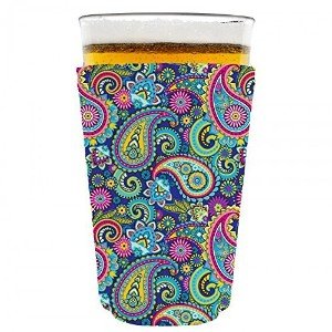 Coolie Junction Paisley Pattern Pint Glass Coolie by Coolie Junction