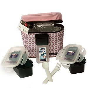 Lock & Lock Lunch Box Set with Bag and Water Bottle - Set of 4 by LockandLock